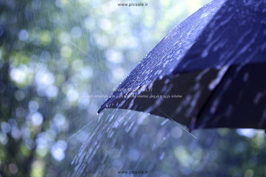 00211 - چتر مشکی / سیاه و هوای بارانی