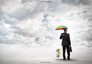 00216 300x210 - مرد یا آقای کت و شلواری با چتر رنگی