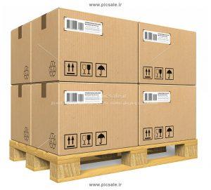 00496 300x271 - جعبه ها یا کارتن های باری روی پالت در انبار