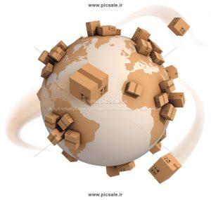 00497 300x285 - منظومه انبارداری / پست هوایی / کره زمین با جعبه یا بسته های پستی