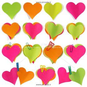 00875 280x280 - قلب های کاغذی رنگی عاشقانه