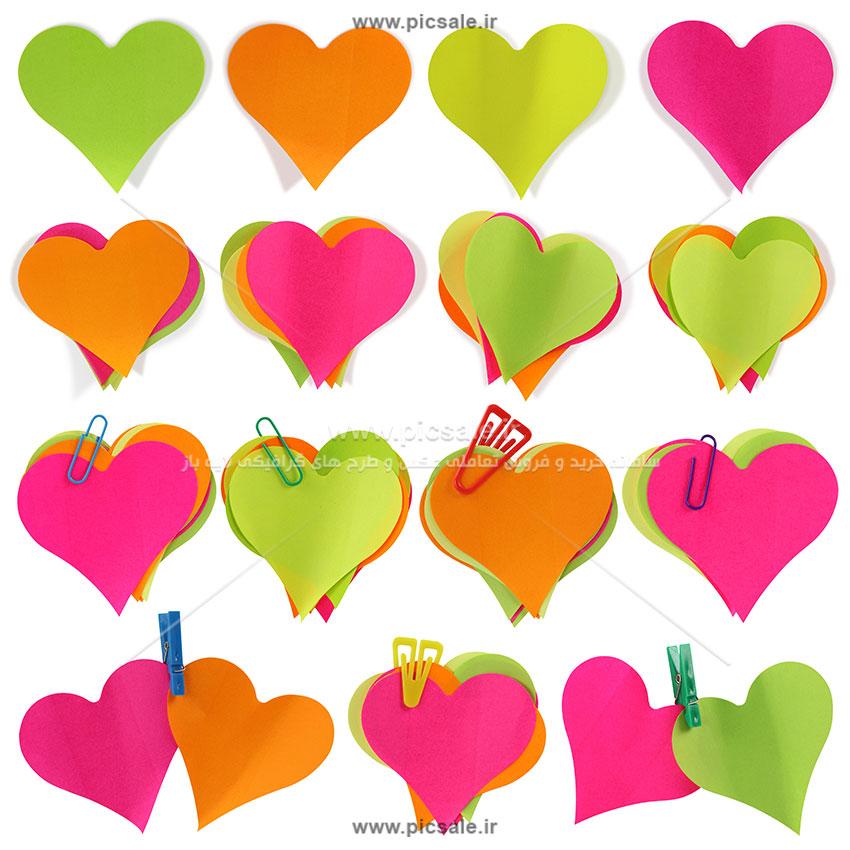 00875 - قلب های کاغذی رنگی عاشقانه
