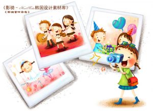 0902s 300x217 - دانلود لایه باز تصویرسازی دختر بچه