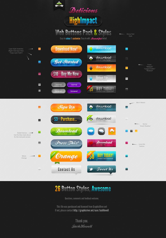 p83 - لایه باز دکمه های وب و اپلیکیشن