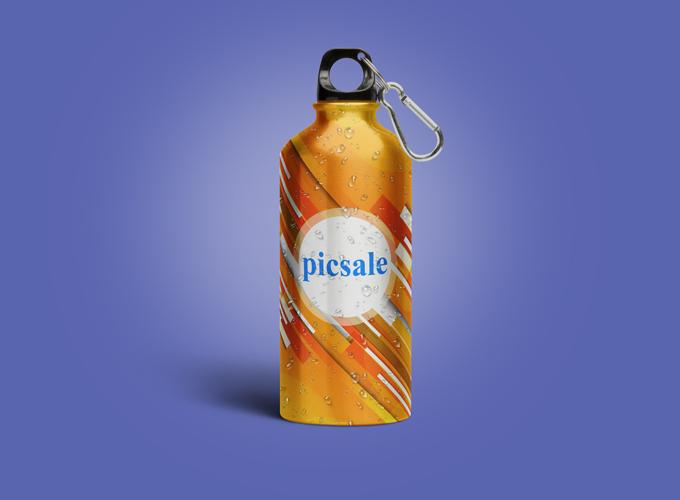 m5 - لایه باز موکاپ بطری قمقمه آب ورزشکاری