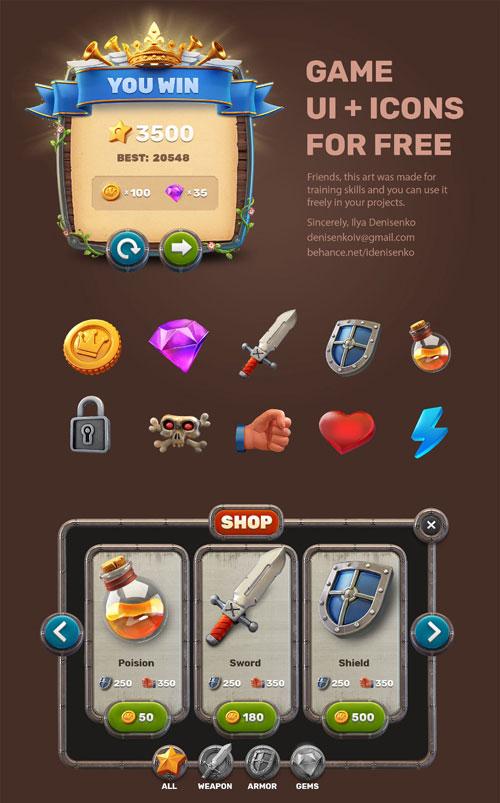p387 - لایه باز آیکون های بازی و اینترفیس UI وب اپلیکیشن موبایل پادشاهی - بخش اول