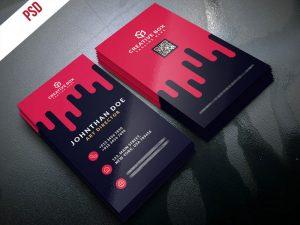 p389 300x225 - لایه باز کارت ویزیت رایگان خلاقانه ایستاده چکیدن خون یا رنگ قرمز گرافیکی