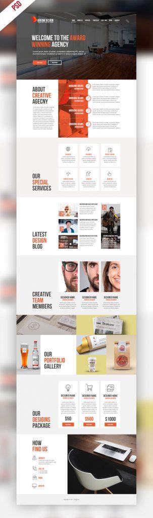 p422 303x1024 - قالب آماده سایت شرکتی با معرفی تیم اجرایی و خدمات بصورت لایه باز