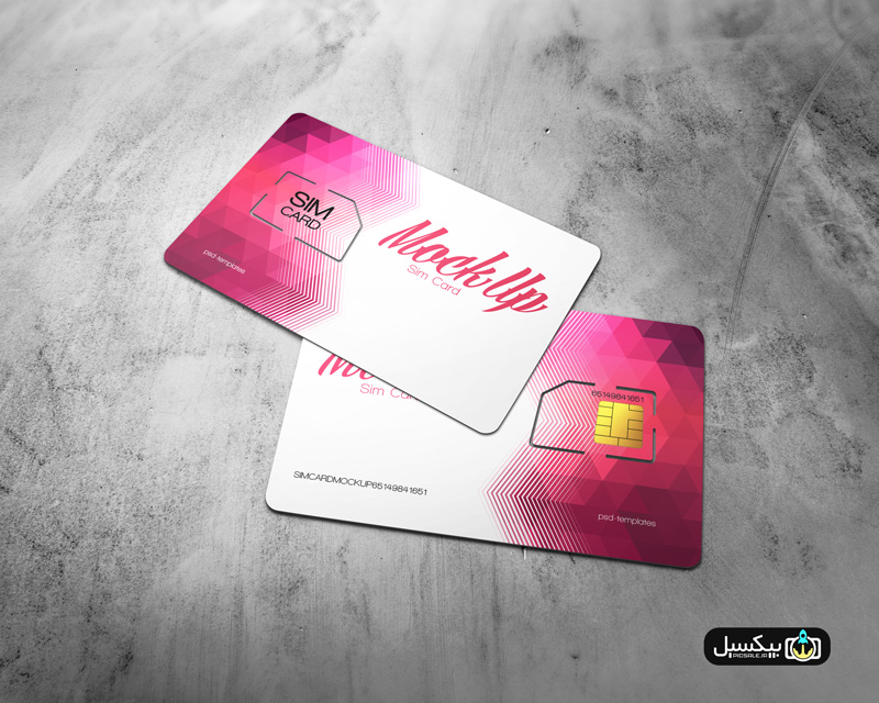 p522 - موکاپ سیم کارت موبایل فوق العاده، کاربردی و کمیاب