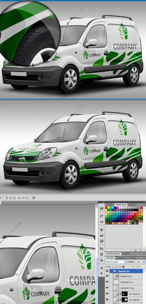 p566 491x1024 - موکاپ خودروی ون یک اتومبیل فوق العاده، یک موکاپ وانت کاربردی با کیفیت بالا برای امور تبلیغاتی
