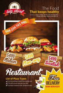 m225 204x300 - دانلود لایه باز تراکت یا پوستر فست فود و پیتزا و ساندویچ