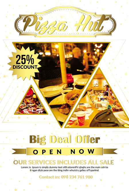 m232 - دانلود لایه باز تراکت یا پوستر رستوران