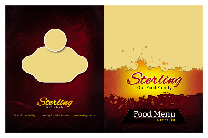 m244 - دانلود لایه باز تراکت یا پوستر منوی رستوران