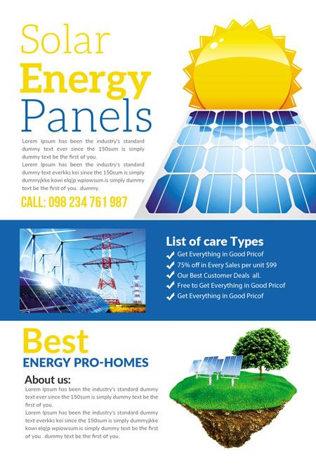 m276 - دانلود لایه باز تراکت یا پوستر الکتریکی و انرژی پاک و سبز