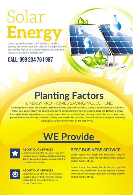 m278 - دانلود لایه باز تراکت یا پوستر الکتریکی و انرژی پاک و سبز