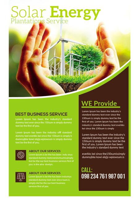 m281 - دانلود لایه باز تراکت یا پوستر الکتریکی و انرژی پاک و سبز
