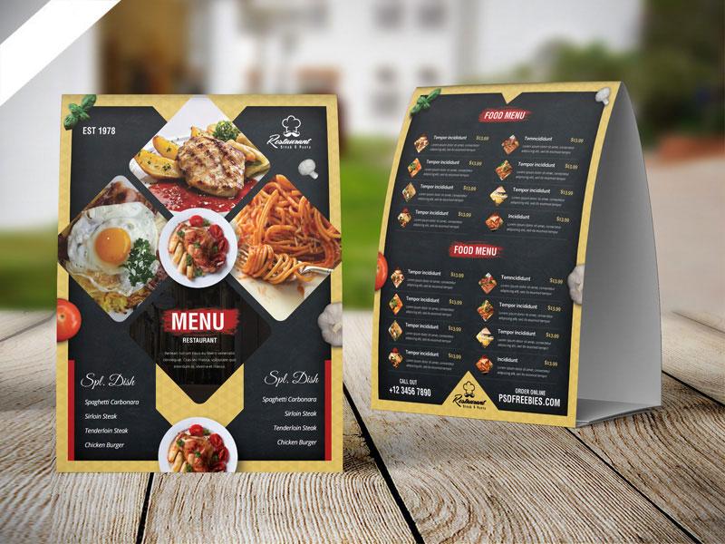 m319 - دانلود لایه باز تراکت یا پوستر منوی رستوران،کافه،اغذیه فروشی،کافی شاپ