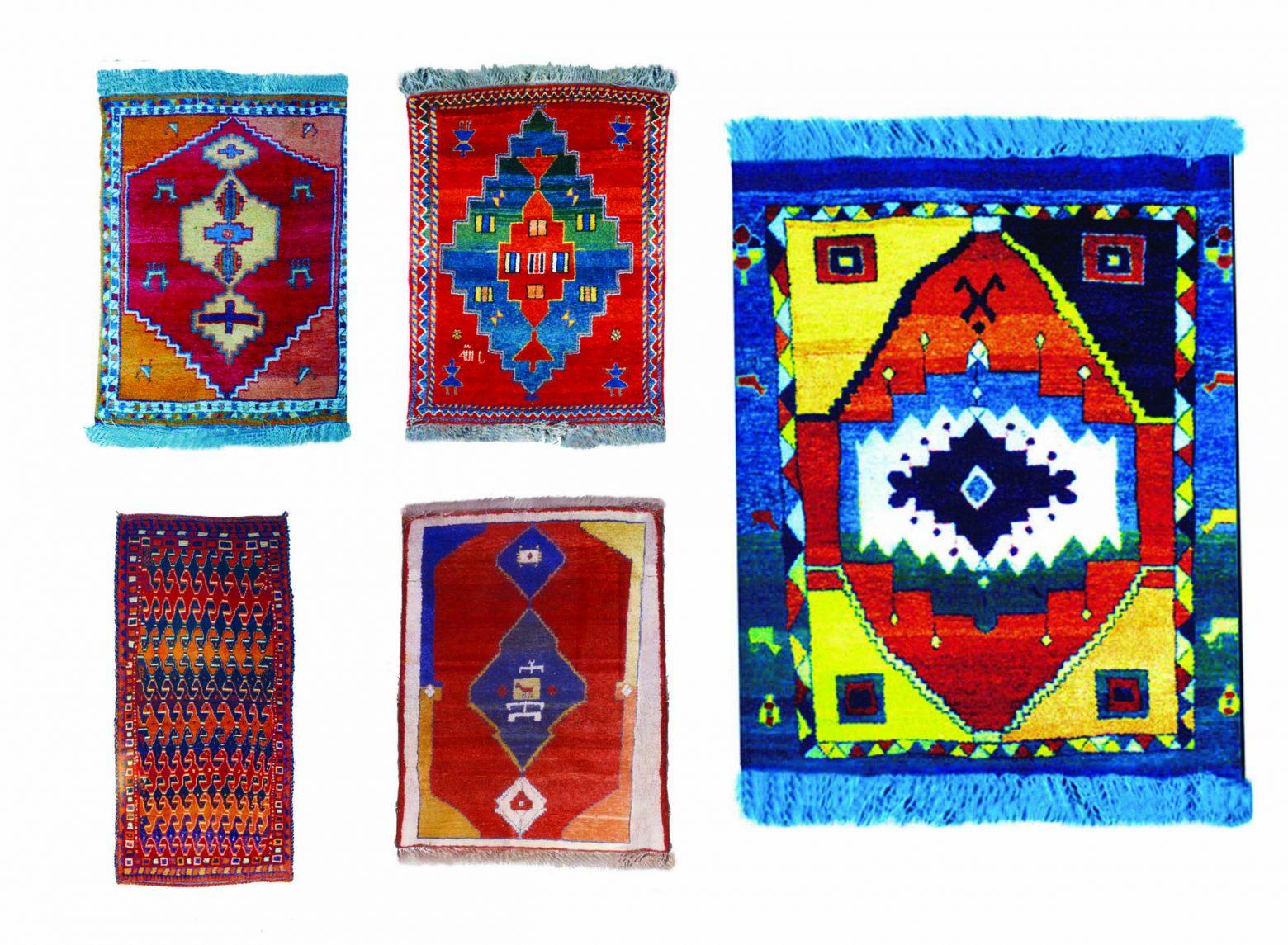 گبه 1 1560x1145 - دستبافت روستایی ایلیاتی هنرمعاصر نائیف طرح های ذهنی استیلیزه
