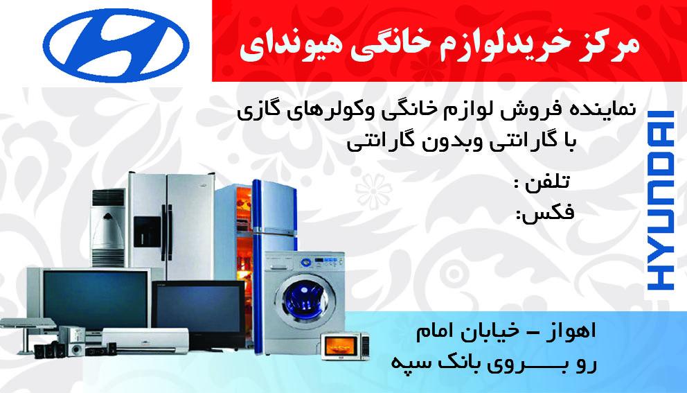 SHABANI - کارت ویزیت مشاغل فروشگاه لوازم خانگی
