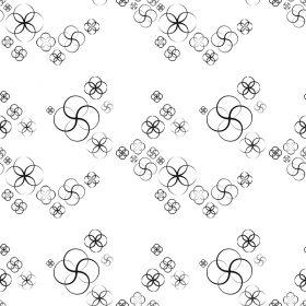 Sample 280x280 - کاغذدیواری گلهای سیاه و سفید