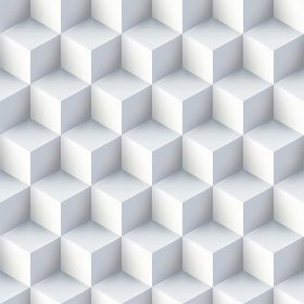 Sample a 280x280 - کاغذ دیواری مکعبهای سفید