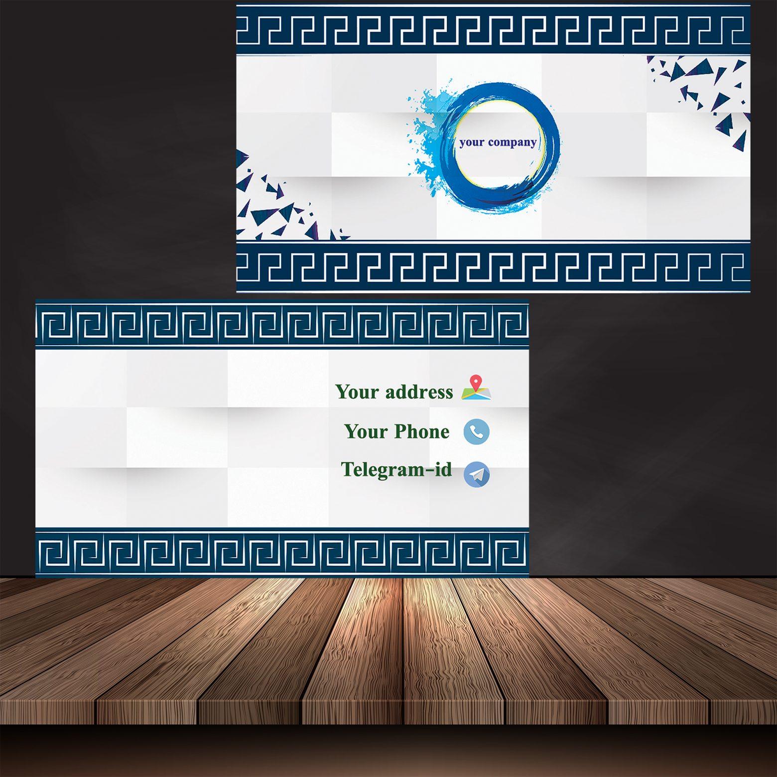 پیش نمایش 1560x1560 - کارت ویزیت 3D لایه باز