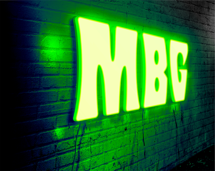 neon logo mockup by PhotoshopSupply - دانلود موکاپ لوگو نئون