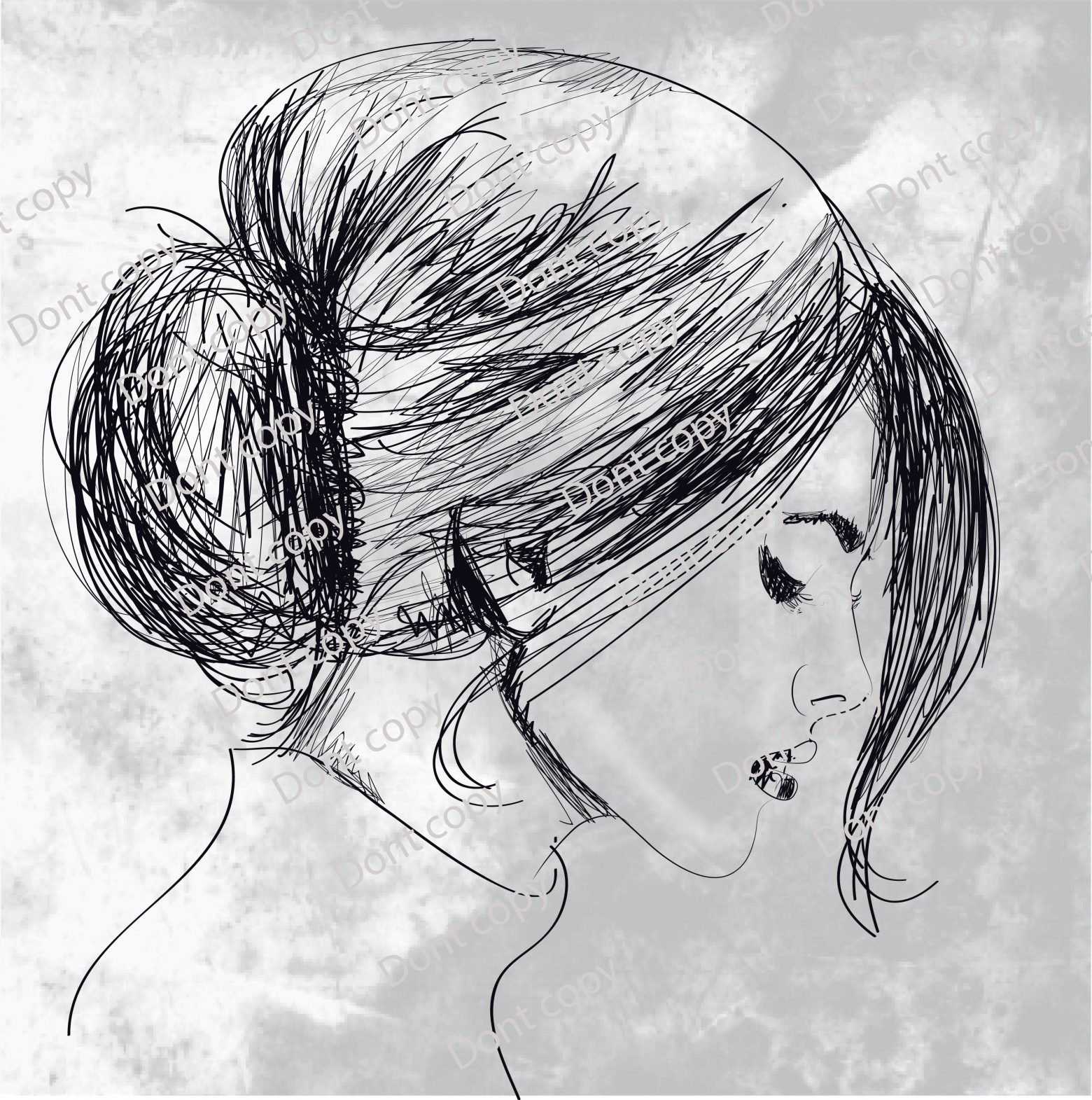 23787 NUV5ZX111 1560x1571 - وکتور طرح چهره دختر با قابلیت تغییر اجزا