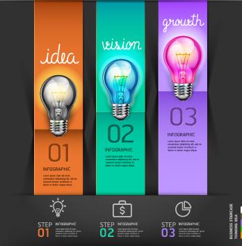 business infographic creative design48 544502 - دانلود وکتور اینفوگرافی تبلیغاتی (Info Graphic)