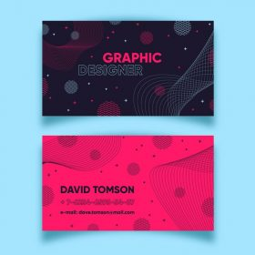abstract colorful business card template set 23 2148468299 280x280 - لایه باز کارت ویزیت انتزاعی