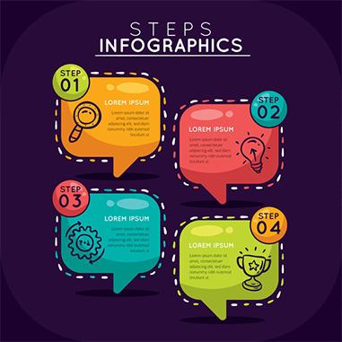 colorful infographic steps flat design 52683 15748 - وکتور اینفوگرافی با کیفیت بالا