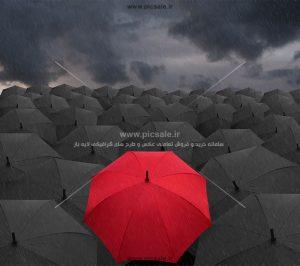 00203 300x266 - چترهای مشکی / سیاه ، قرمز و باران