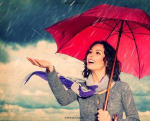 00204 300x242 - دختر با چتر قرمز و باران