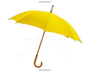 00212 300x240 - چتر زرد با دسته چوبی