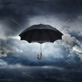 00233 280x280 - چتر مشکی یا سیاه در آسمان ابری
