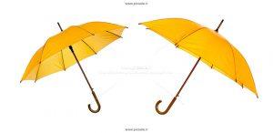 00243 300x146 - دو چتر زرد زیبا با دسته چوبی