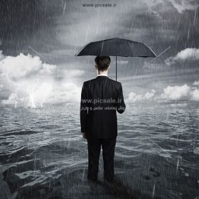 00247 280x280 - مرد با چتر مشکی یا سیاه در هوای بارانی