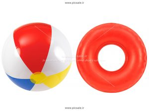 00266 300x225 - توپ رنگی / حلقه بادی قرمز