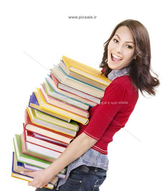 00360 548x635 - دانشجوی دختر شاد در حال بردن یا حمل کتاب