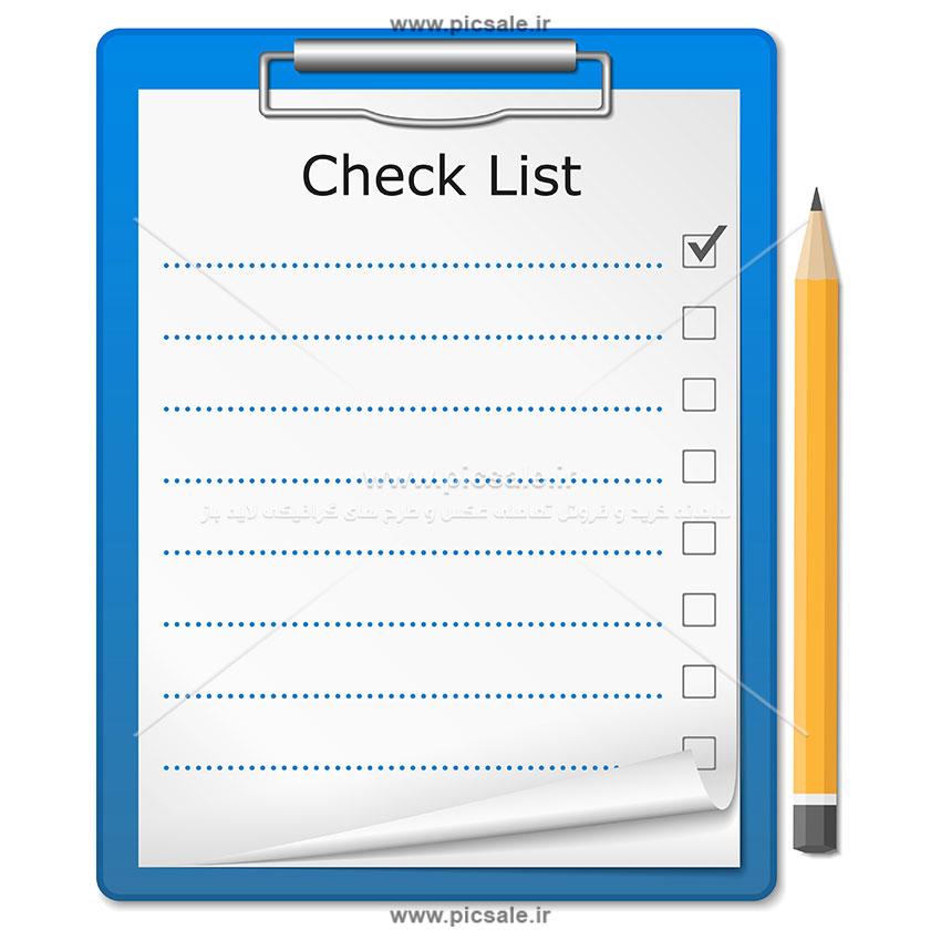 00525 - دفترچه یادداشت / چک لیست با مداد / برنامه ریزی