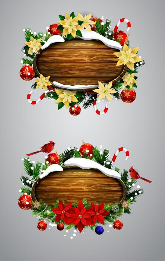 0605s 548x866 - لایه باز قاب جشنواره ای تزئین شده با گل های زیبا، ویژه کریسمس