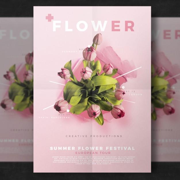 0626s - لایه باز پوستر تجاری / گل