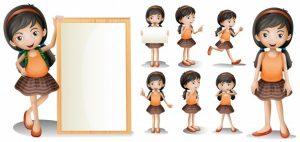 0639s 300x142 - لایه باز کاراکتر تبلیغاتی / دختر