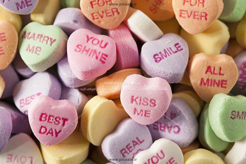 0010101 - قلب های رنگارنگ عاشقانه