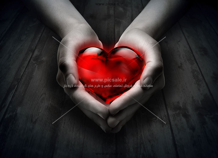 0010145 - قلب قرمز عاشقانه