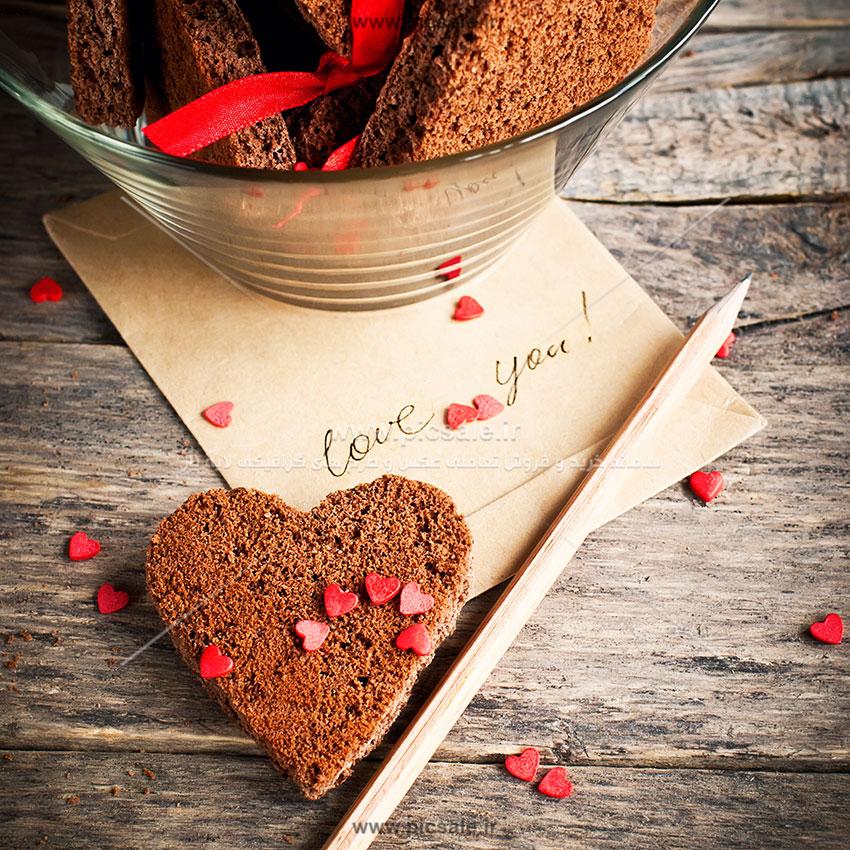 001022 - قلب با اسنفج های قهوه ای زیبا