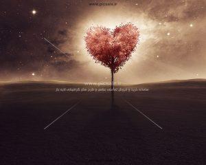001023 300x240 - درخت پائیزی قلبی عاشقانه