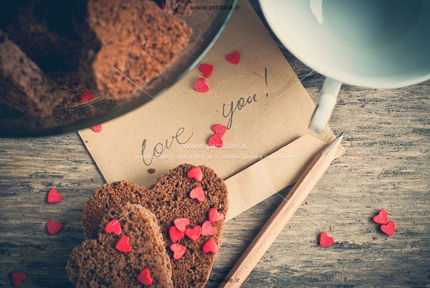 001028 - قلب با اسنفج های قهوه ای زیبا