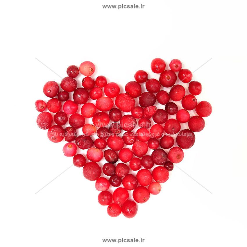 001046 - قلب با میوه عاشقانه