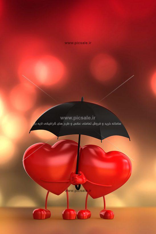 001050 548x822 - قلب های قرمز زیر چتر عاشقانه